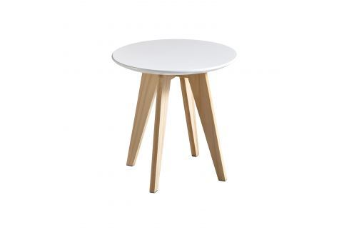 Konferenční stolek RONDO bílý Pokoj a jídelna - Stoly a stolky - Konferenční stolky