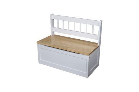Dětská lavice bílá/lak Ložnice - Bytové doplňky