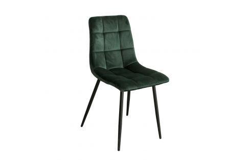 Jídelní židle BERGEN zelený samet Pokoj a jídelna - Jídelní židle