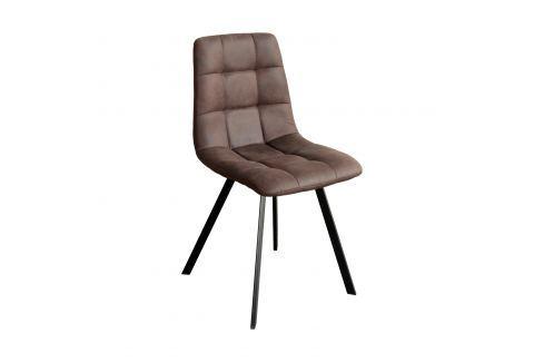 Jídelní židle BERGEN hnědé mikrovlákno Pokoj a jídelna - Jídelní židle