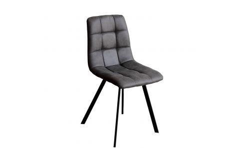 Jídelní židle BERGEN šedé mikrovlákno Pokoj a jídelna - Jídelní židle