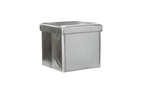 Sedací úložný box stříbrný Ložnice - Bytové doplňky