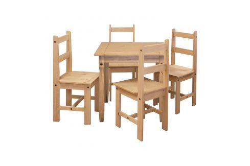 Jídelní stůl 16117 + 4 židle 1627 CORONA 2 Pokoj a jídelna - Jídelní sestavy