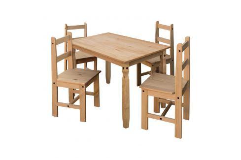 Jídelní stůl 16116 + 4 židle 1627 CORONA 2 Pokoj a jídelna - Jídelní sestavy