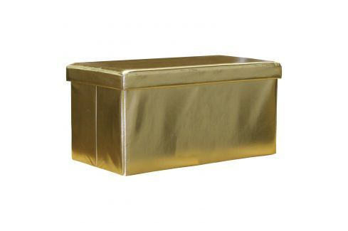 Sedací úložný box zlatý Ložnice - Bytové doplňky