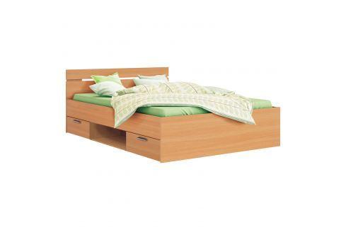 Multifunkční postel 140x200 MICHIGAN buk Ložnice - Postele
