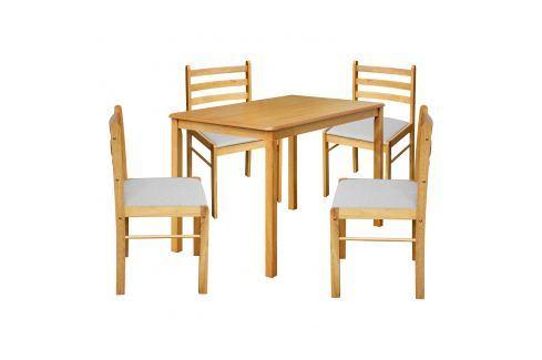 Stůl + 4 židle FARO lak javor Pokoj a jídelna - Jídelní sestavy