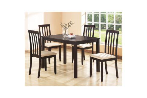 Stůl + 4 židle MALAGA lak třešeň Pokoj a jídelna - Jídelní sestavy