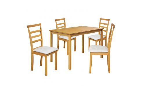 Stůl + 4 židle LIVORNO lak javor Pokoj a jídelna - Jídelní sestavy