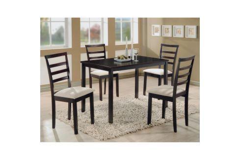 Stůl + 4 židle LIVORNO lak třešeň Pokoj a jídelna - Jídelní sestavy