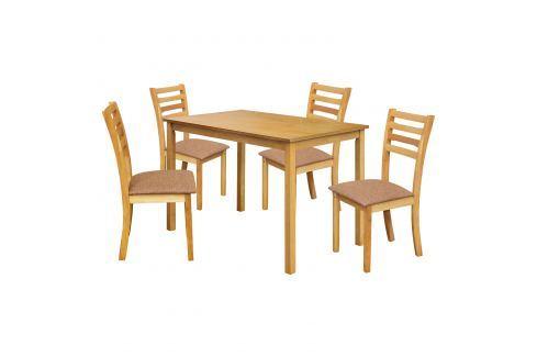 Stůl + 4 židle BARCELONA lak javor Pokoj a jídelna - Jídelní sestavy