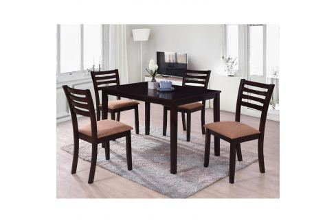 Stůl + 4 židle BARCELONA lak třešeň Pokoj a jídelna - Jídelní sestavy
