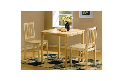 Stůl + 2 židle GENT lak Pokoj a jídelna - Jídelní sestavy