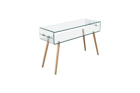 Odkládací stolek sklo/buk Pokoj a jídelna - Stoly a stolky - Konferenční stolky