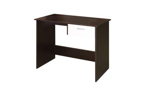 Psací stůl 60042 mahagon/bílá Pracovna - Psací a PC stoly