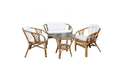 Sestava MANAU stůl + 3 křesla ratan Pokoj a jídelna - Jídelní sestavy
