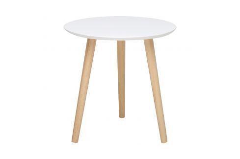 Odkládací stolek IMOLA 1 bílý/borovice Pokoj a jídelna - Stoly a stolky - Konferenční stolky
