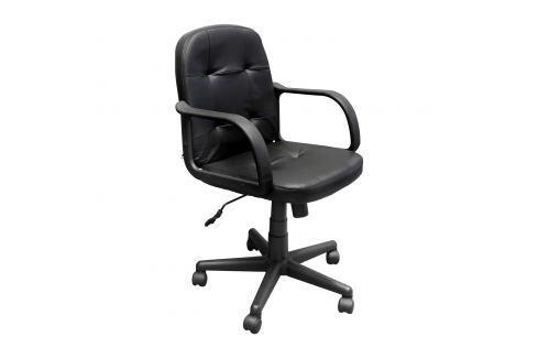 Kancelářské křeslo MANAGER 2 černá kůže Pracovna - Kancelářské židle
