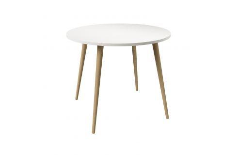 Jídelní stůl kulatý NORSK dub/bílá Pokoj a jídelna - Stoly a stolky - Jídelní stoly