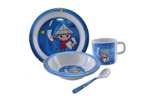 Orion Dětská jídelní sada Večerníček 4ks TALÍŘKY A MISKY