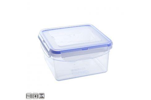 Dóza plastová s těsněním hranatá 1,3 L Skladování