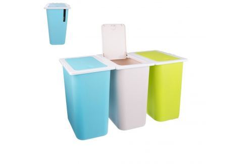 Koš odpadkový na tříděný odpad 13 l, 3ks ODPADKOVÉ KOŠE