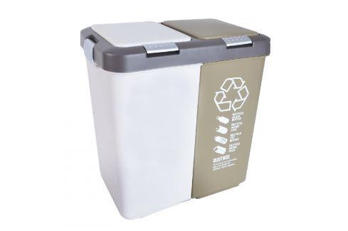 Koš odpadkový na tříděný odpad DUO DUST 40 L ODPADKOVÉ KOŠE