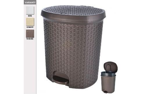 Koš odpadkový plastový s pedálem RATAN 21 L ODPADKOVÉ KOŠE