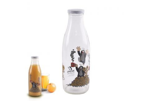 Láhev skleněná na mléko KRTEK 1L LÁHVE NA PITÍ