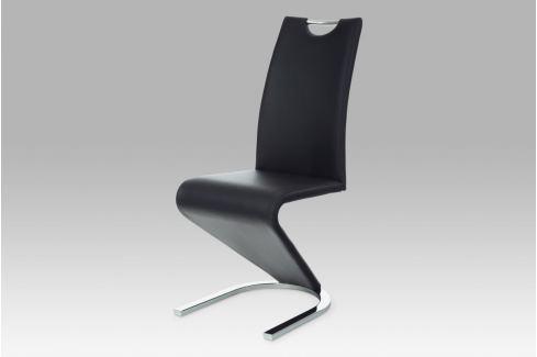 Jídelní židle HC-790 BK, chrom/koženka černá Židle