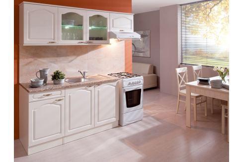 Kuchyně JULIE 150/210 cm, korpus vanilka/dvířka magnolie Kuchyňské linky
