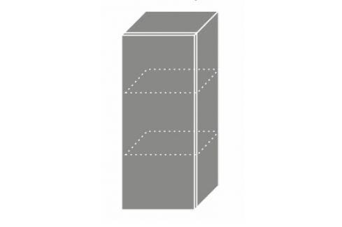 TITANIUM, horní skříňka W2 30, korpus: lava, barva: fino černé Kuchyňské horní skříňky