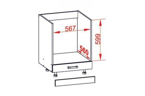 TAPO PLUS dolní skříňka DP60, korpus congo, dvířka grafit lesk Kuchyňské dolní skříňky