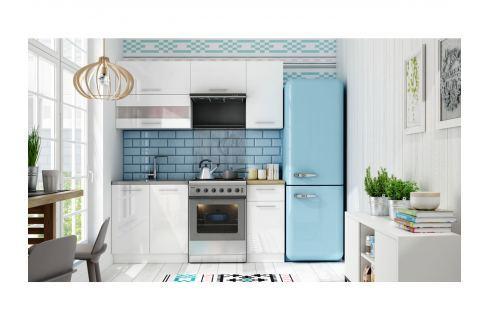 Kuchyně TIFFANY 120/180 cm, bílý lesk Kuchyňské linky