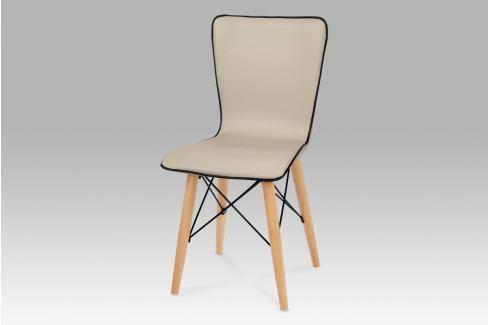 Jídelní židle, koženka cappuccino / natural, B828 CAP1 Židle