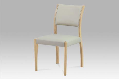 Jídelní židle, bělený dub / koženka lanýžová, C-186 OAK1 Židle