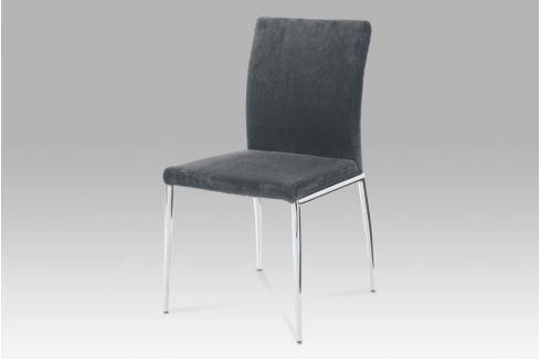 Jídelní židle chrom / látka šedá, B827 GREY2 Židle