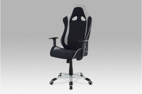 Kancelářská židle, látka černá/bílá, KA-E550 BK Kancelářská křesla