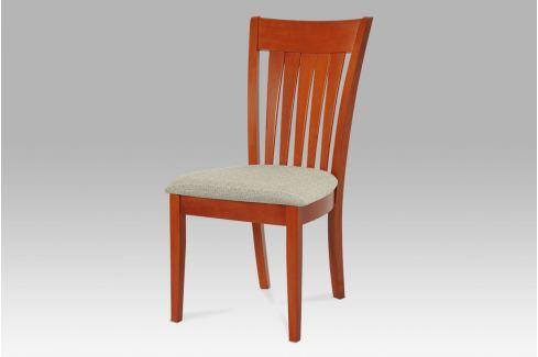 Jídelní židle, třešeň / potah šedý, BE816-sed TR2 Židle