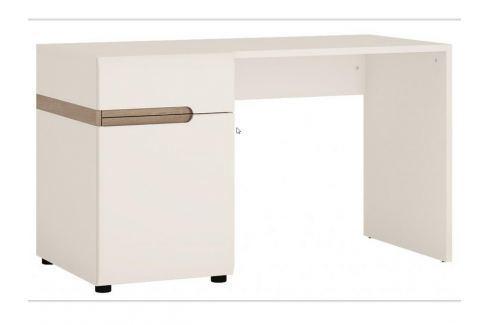 LINATE/80, psací stůl, alpská bílá/trufla Psací stoly