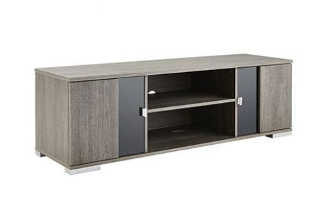NEMUR, TV stolek šíře 140 cm, dub prata TV stolky