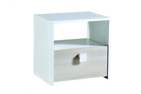 GAIME, noční stolek, akát/bílá Noční stolky