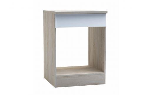 CHANTILY, skříňka pro vestavnou troubu, bílý lesk Kuchyňské linky