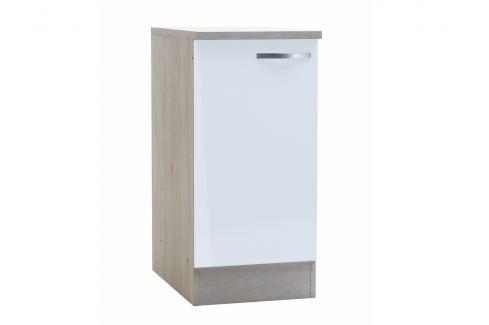 CHANTILY, skříňka dolní 40 cm, bílý lesk Kuchyňské linky