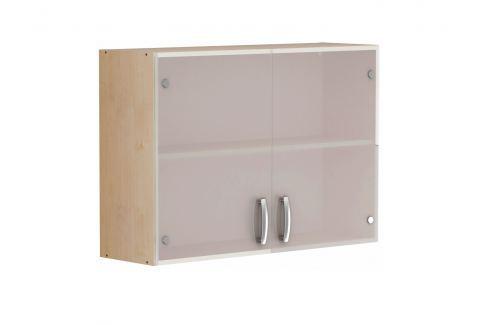 PEPRIKA, skříňka horní 100 cm, javor/sklo Kuchyňské linky