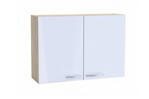 CHANTILY, skříňka horní 100 cm, bílý lesk Kuchyňské linky