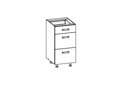 HAMPER dolní skříňka D3S 40 SMARTBOX, korpus bílá alpská, dvířka dub sanremo světlý Kuchyňské dolní skříňky