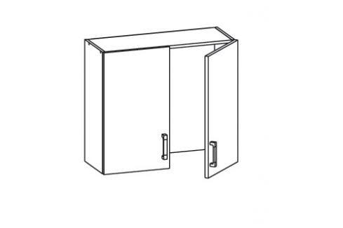 HAMPER horní skříňka GC80/72, korpus bílá alpská, dvířka dub sanremo světlý Kuchyňské horní skříňky