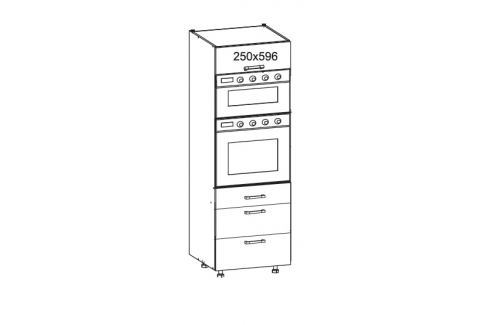 HAMPER vysoká skříň DPS60/207 SAMBOX O, korpus congo, dvířka dub sanremo světlý Kuchyňské linky