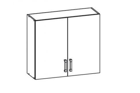 HAMPER horní skříňka G80/72, korpus congo, dvířka dub sanremo světlý Kuchyňské horní skříňky